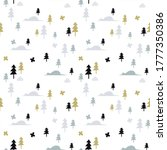 seamless hand drawn pattern...   Shutterstock .eps vector #1777350386