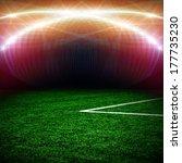 soccer green field  | Shutterstock . vector #177735230
