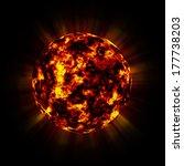burning planet  | Shutterstock . vector #177738203
