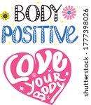 body positive handwritting... | Shutterstock .eps vector #1777398026