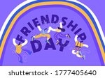 friendship day greeting card... | Shutterstock .eps vector #1777405640