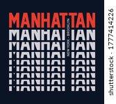Manhattan Typography  T Shirt...