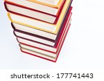 stack of books on a white... | Shutterstock . vector #177741443