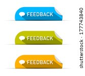 feedback icons set isolated on... | Shutterstock . vector #177743840