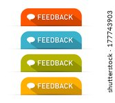 feedback icons set isolated on... | Shutterstock . vector #177743903