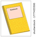 vector yellow notebook icon....