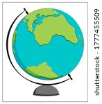 vector globe icon in a flat...