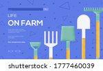 farm tools concept flyer  web...