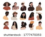 set of abstract woman portraits ... | Shutterstock .eps vector #1777470353