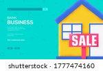 house sale concept flyer  web...