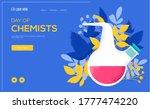 chemists flask concept flyer ...