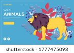 wild animals lion flyer ...