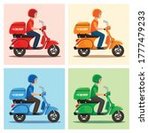 vector of delivery man set with ... | Shutterstock .eps vector #1777479233