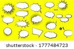 comic speech bubble background... | Shutterstock .eps vector #1777484723