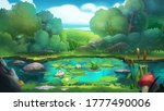 fantasy swamp in the forest... | Shutterstock . vector #1777490006
