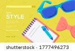 geek style concept flyer  web...