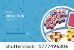 sushi concept flyer  web banner ...