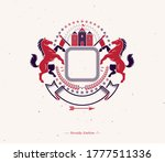 graphic vintage emblem with... | Shutterstock .eps vector #1777511336