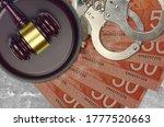 50 Canadian Dollars Bills And...
