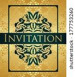 elegant vintage invitation.... | Shutterstock .eps vector #177753260