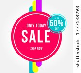 colorful sale poster vector... | Shutterstock .eps vector #1777548293