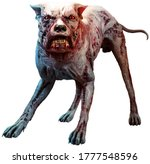 Monstrous Zombie Hound 3d...