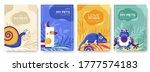 Animal Vector Brochure Cards...