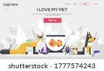 i love pets flyer  magazines ... | Shutterstock .eps vector #1777574243