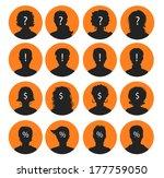 man and woman avatars | Shutterstock .eps vector #177759050