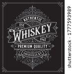 vintage whiskey style frame... | Shutterstock .eps vector #1777593989