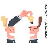 businessman sharing idea   Shutterstock .eps vector #177759590