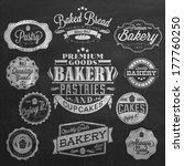 vintage retro bakery badges and ... | Shutterstock .eps vector #177760250
