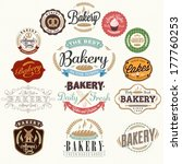vintage retro bakery badges and ... | Shutterstock .eps vector #177760253