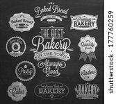 vintage retro bakery badges and ... | Shutterstock .eps vector #177760259