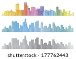 vector colorful cities. | Shutterstock .eps vector #177762443
