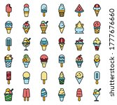 ice cream icons set. outline... | Shutterstock .eps vector #1777676660