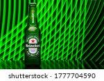 Heineken Lager Beer Is The...
