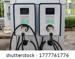 electric car charging station.... | Shutterstock . vector #1777761776