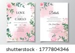 beautiful floral frame wedding...   Shutterstock .eps vector #1777804346