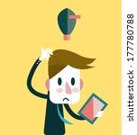 businessman no ideas. business... | Shutterstock .eps vector #177780788