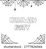 spider web frame border and...   Shutterstock .eps vector #1777826066