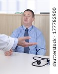 doctor talking with man in the... | Shutterstock . vector #177782900
