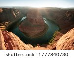 Scenic Horseshoe Bend Canyon On ...