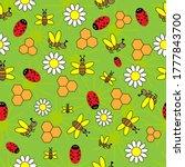 Seamless Pattern With Ladybug ...