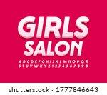 vector trendy logo girls salon. ... | Shutterstock .eps vector #1777846643