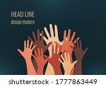 people raise their hands  vote... | Shutterstock .eps vector #1777863449
