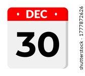 december 30   calendar icon.... | Shutterstock .eps vector #1777872626