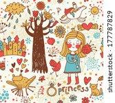 cute fairytale seamless pattern ... | Shutterstock . vector #177787829