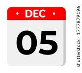 december 05   calendar icon.... | Shutterstock .eps vector #1777879196