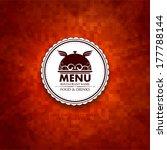 restaurant menu. | Shutterstock .eps vector #177788144